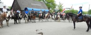 Lagerfeuerromantik bei der Reitertour auf Junkern-Beel im Emsland