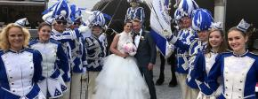 Hochzeit in Blau und Weiss